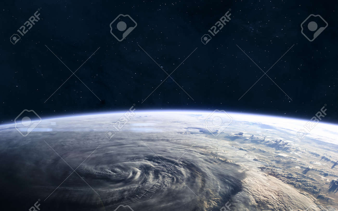 Earth landscape View from outer space. Solar system. - 138639378
