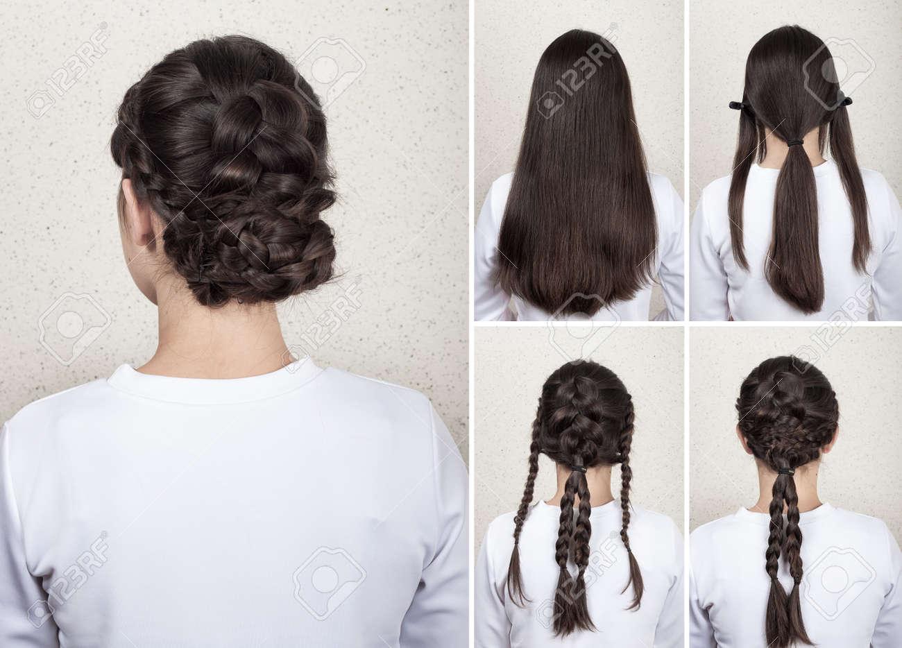 Kreativ geflochtene Frisur für lange Haare Tutorial