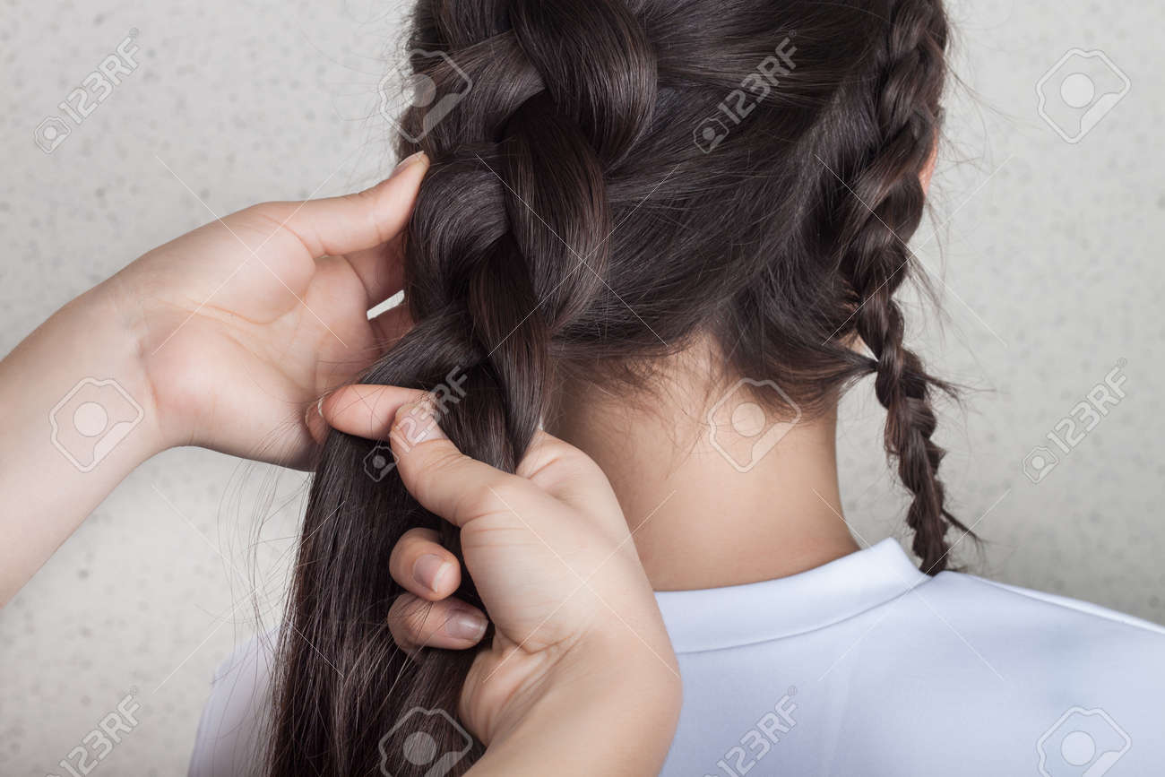 Procedure Weave Braid Tutorial Stock Photo Picture And Royalty Free