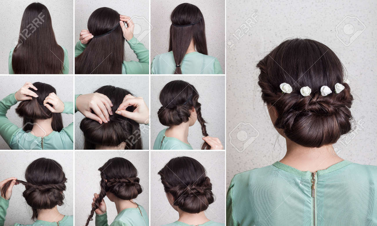 Einfach Schöne Frisur Für Lange Haare Mit Blumen Selbst Tutorial