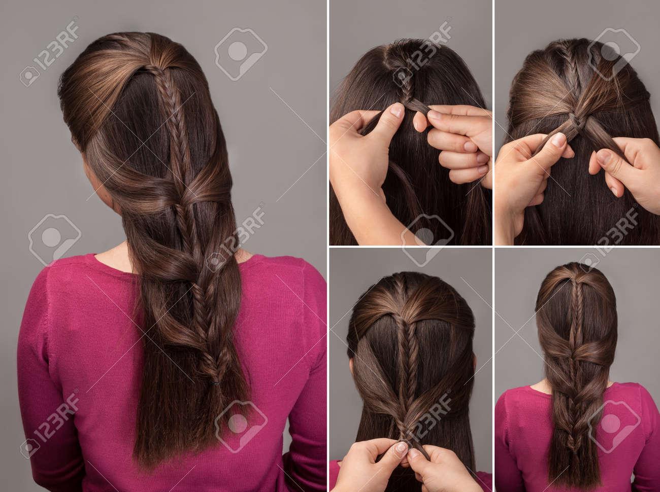 Fishtail Braid Tutorial Method Of French Braid Process Of Weaving