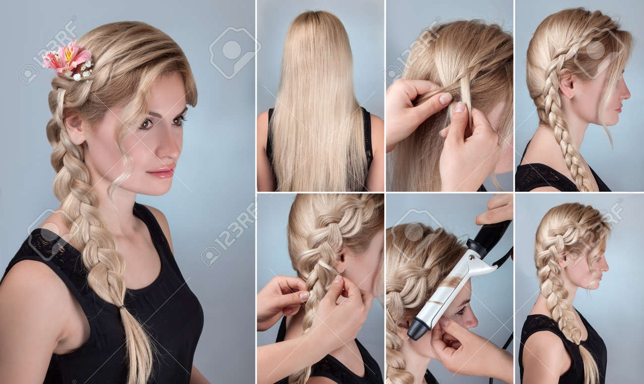 Simple Braid Hairstyle Tutorial Romantic Evening Hairstyle For Long