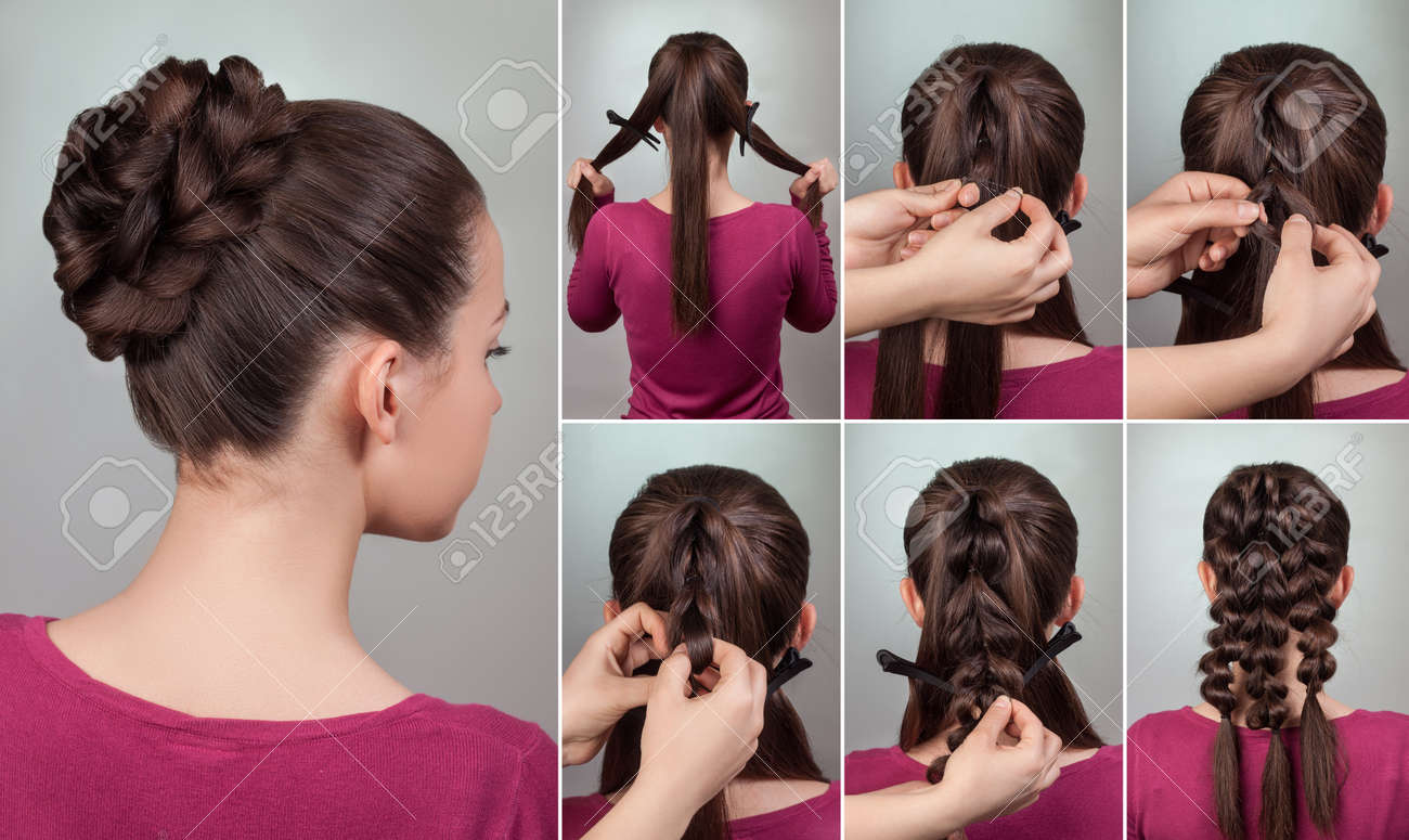 Simple Elegant Hairstyle Tutorialupdo For Long And Medium Hair