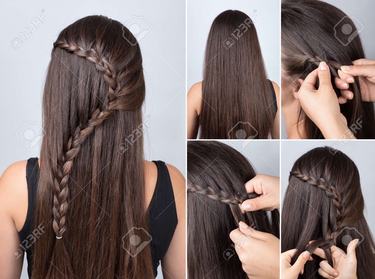 Hairdo Cascade Braid, Hair Tutorial. Hairstyle For Long Hair ...