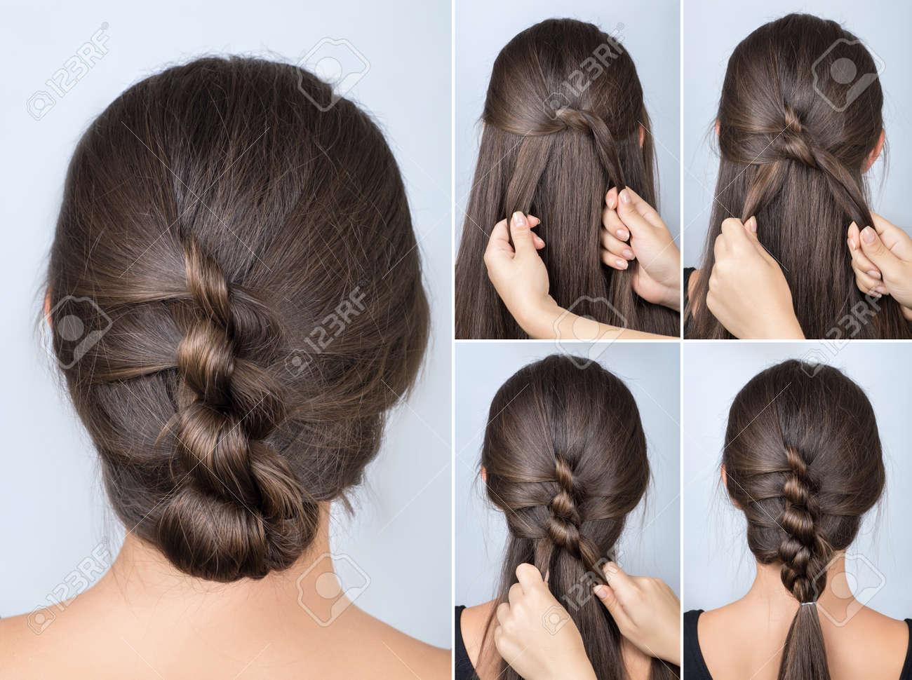 Einfache Verdrillte Frisur Tutorial Einfache Frisur Für Lange Haare