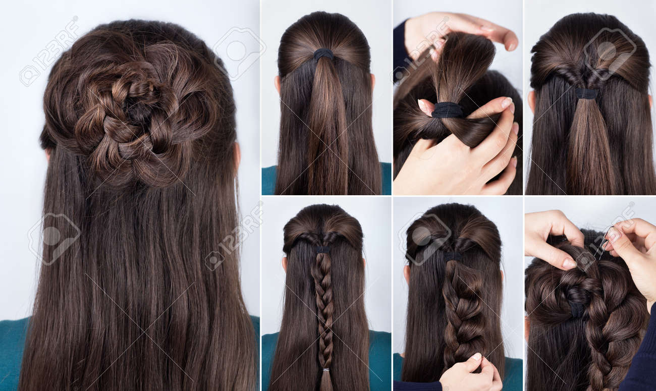 Hairstyle Braided Rose Tutorial Step By Step Hairstyle For