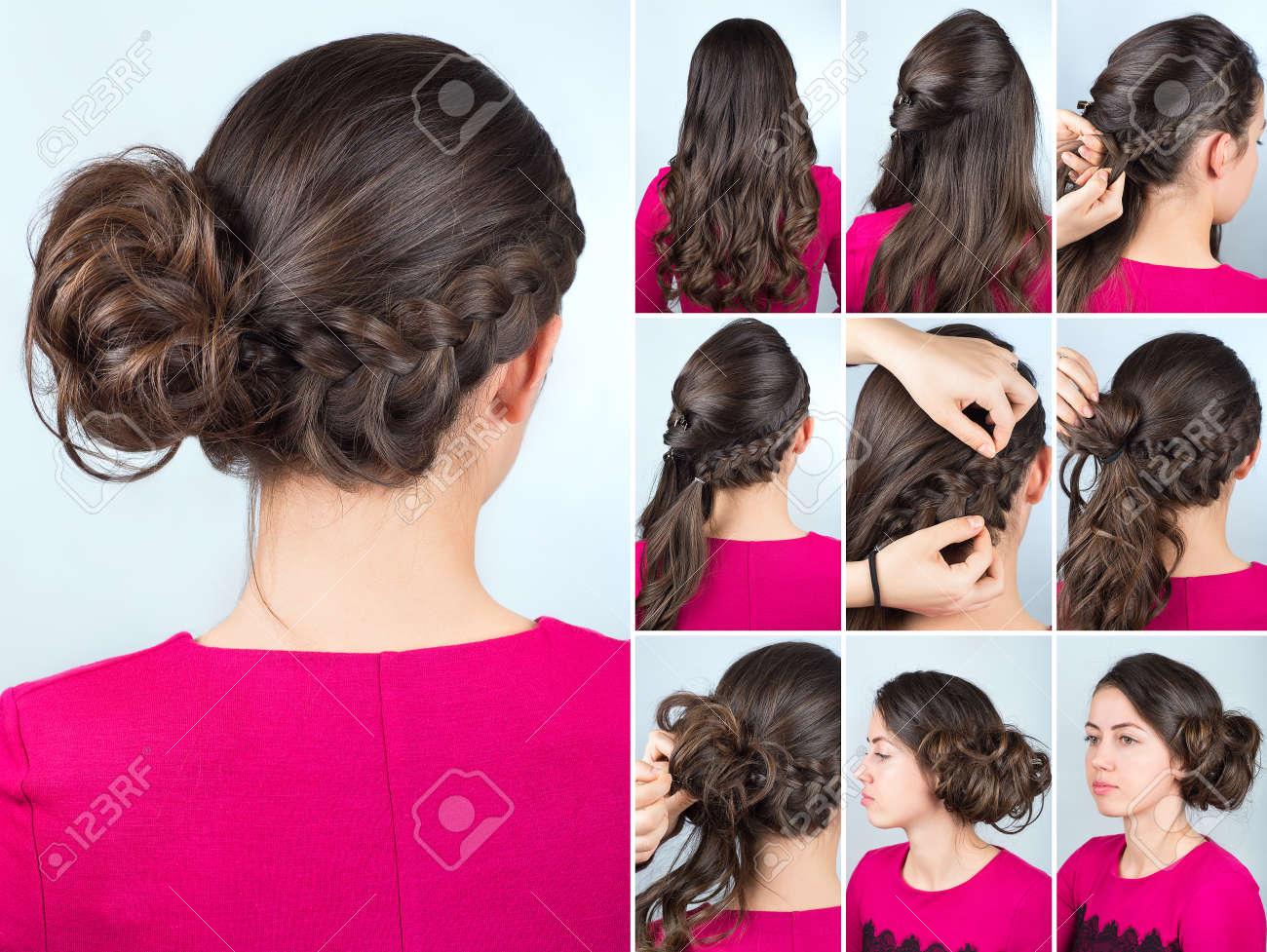 Tresse sur le cote cheveux long