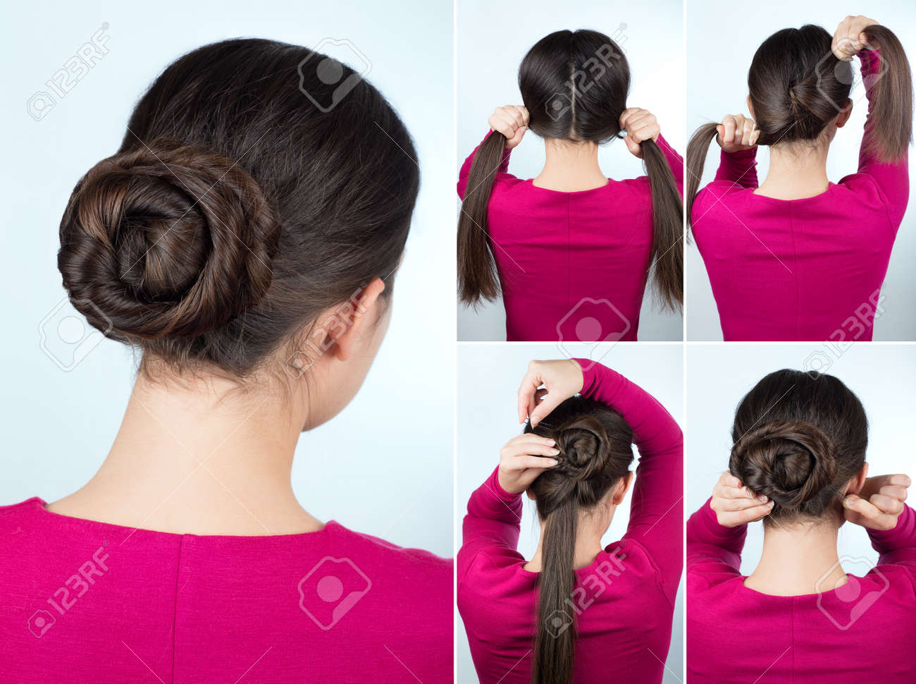 Hair Tutorial Step By Step Simple Hairstyle Twisted Bun Tutorial