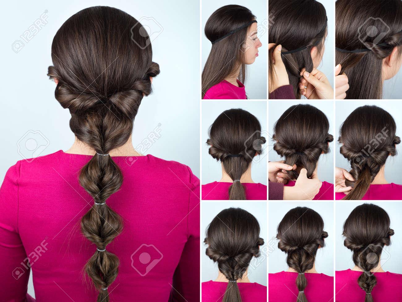 Simple Greek Hairstyle Twisted Ponytail Tutorial Hairstyle Tutorial