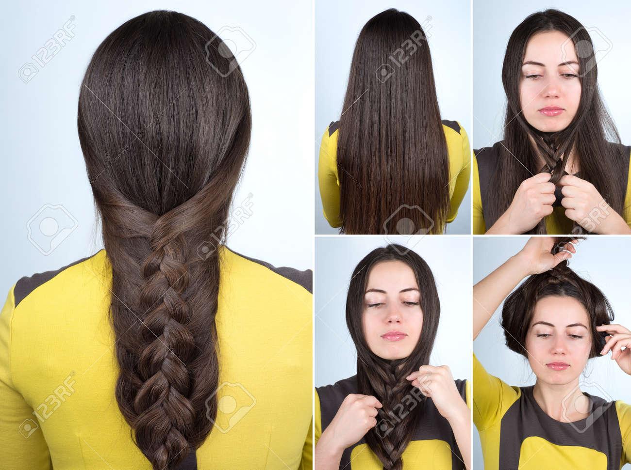 Tutoriel Simple Tresse Coiffure Plait Coiffure Pour Cheveux Longs