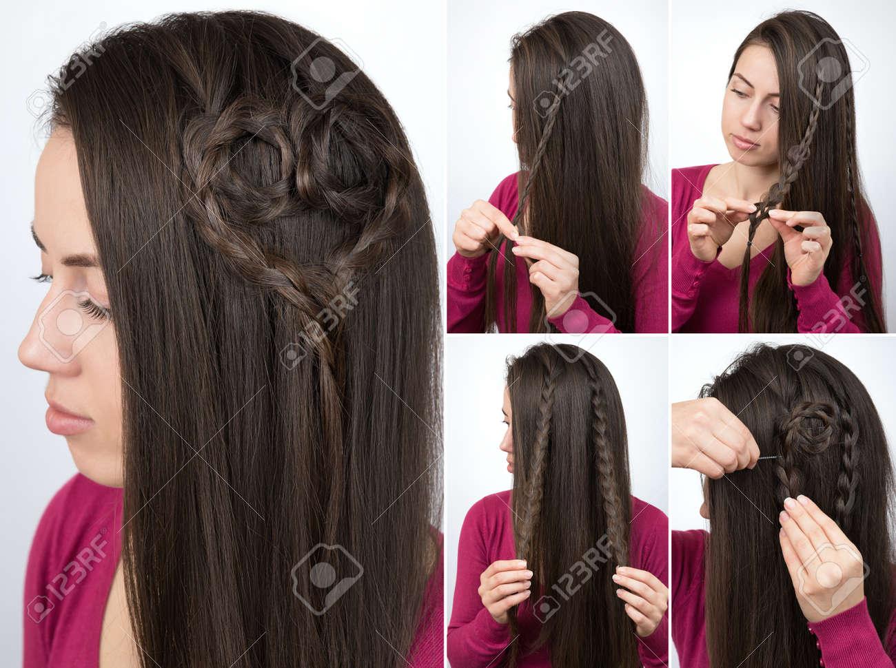 hairstyle braided heart tutorial - 75496275
