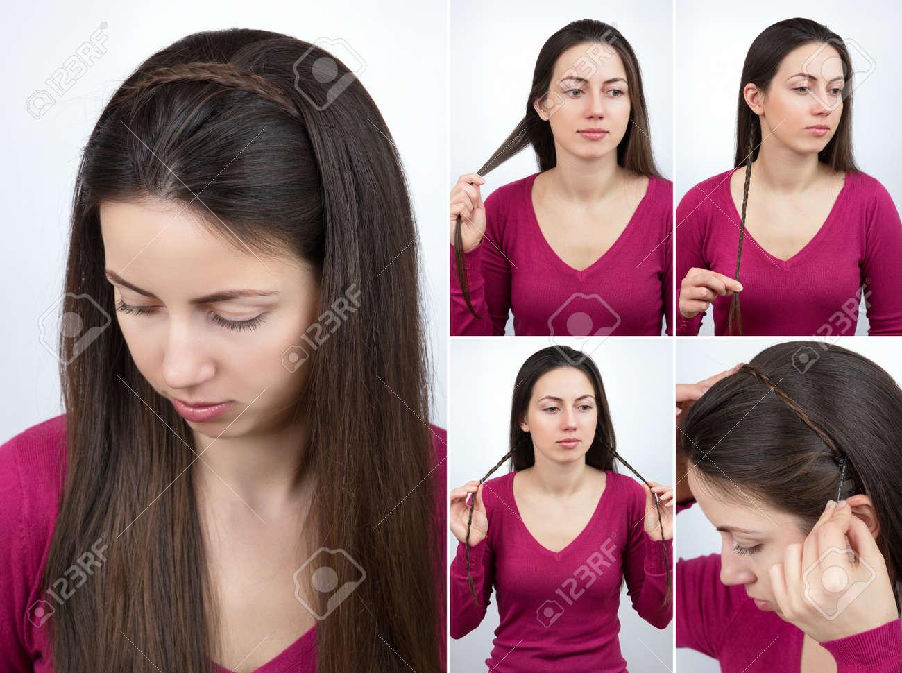 hairstyle braided hoop tutorial - 76109139