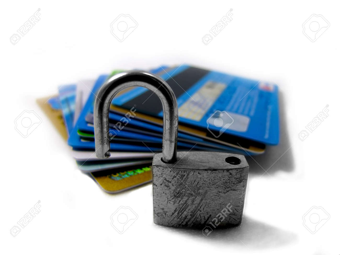 Unlocked and unsafe pin - identity theft Stock Photo - 17571190