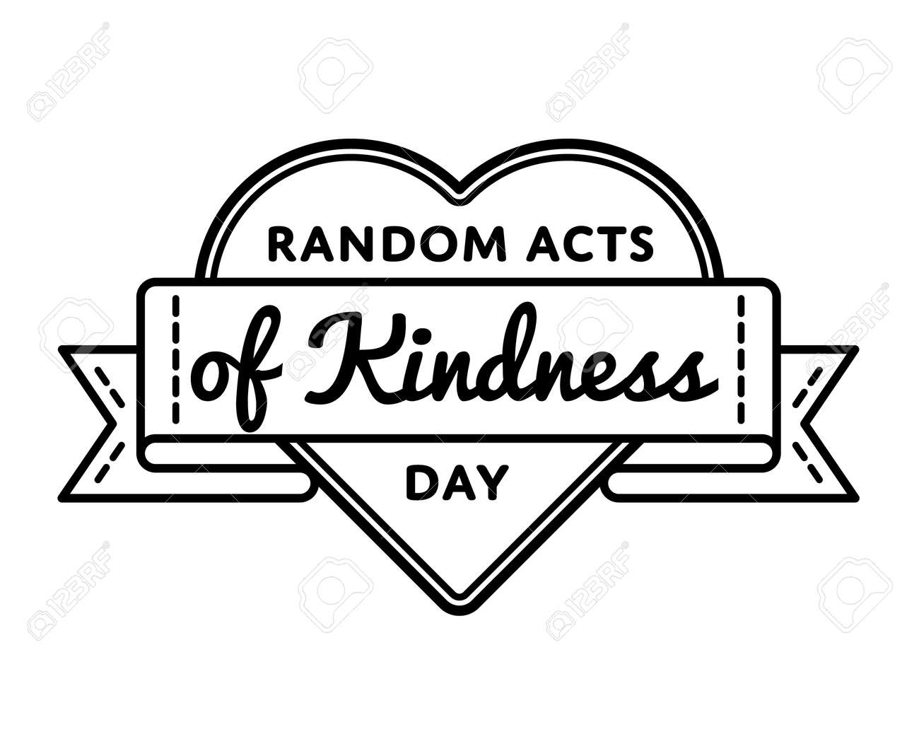 Random Acts Of Kindness Day Greeting Emblem Royalty Free Cliparts
