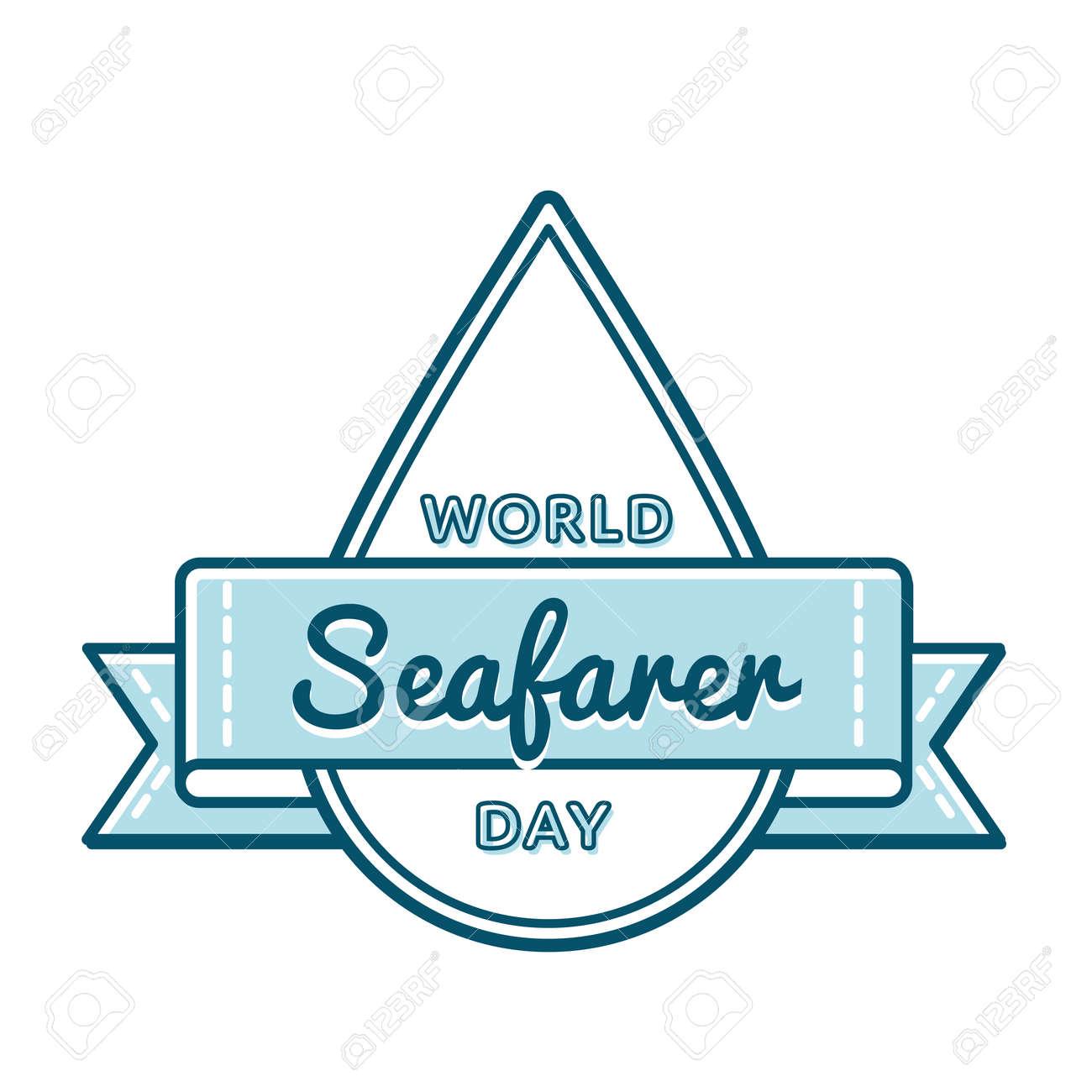 World Seafarer day greeting emblem - 78003410