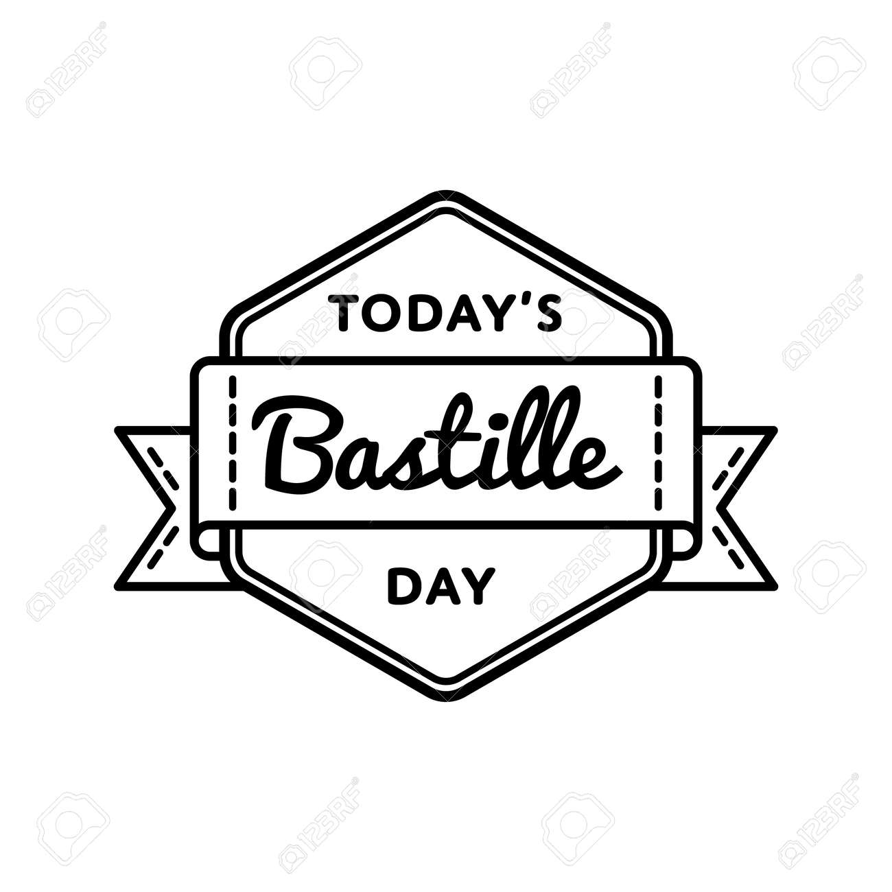 Today bastille day greeting emblem royalty free cliparts vectors today bastille day greeting emblem stock vector 77493163 m4hsunfo