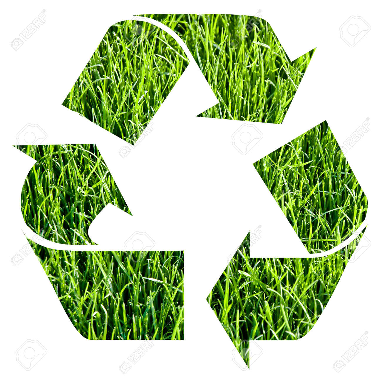 recycle symbol made with grass Stock Photo - 3102726
