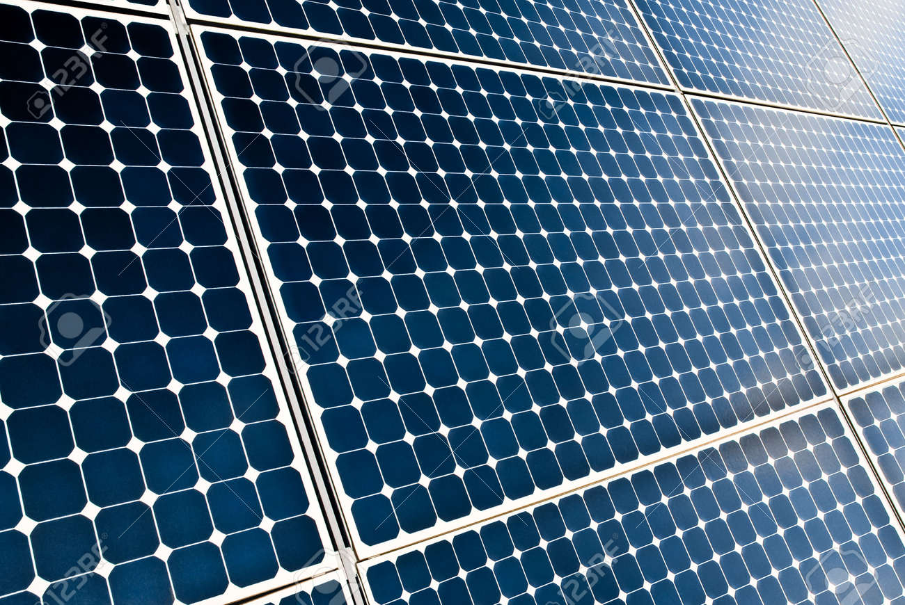 close view of solar panel modules Stock Photo - 3309794