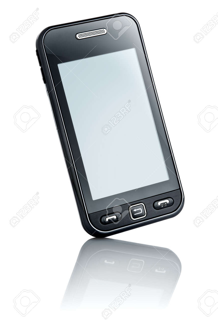 touchscreen mobile phone with customizable display Stock Photo - 5202689