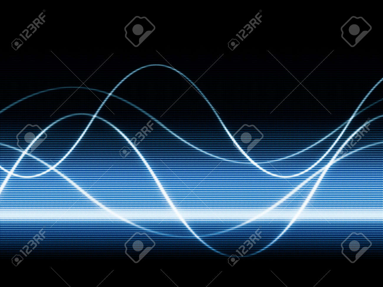 close up of blue monitor displaying sines curves Stock Photo - 9641806