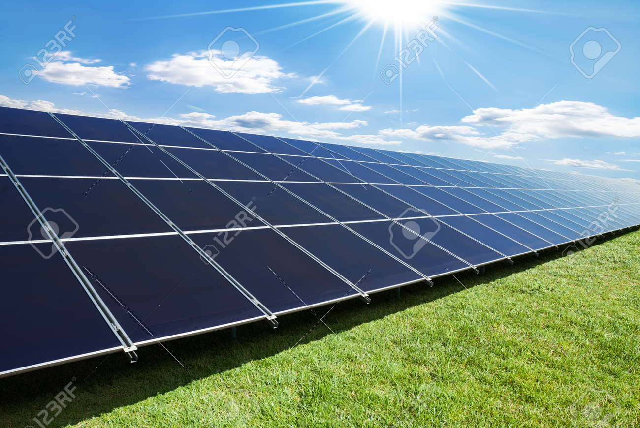 solar panels perspective in a sunny day Stock Photo - 13325267