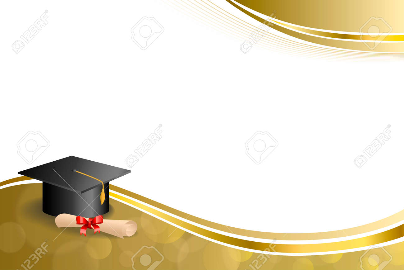 Background Abstract Beige Education Graduation Cap Diploma Red