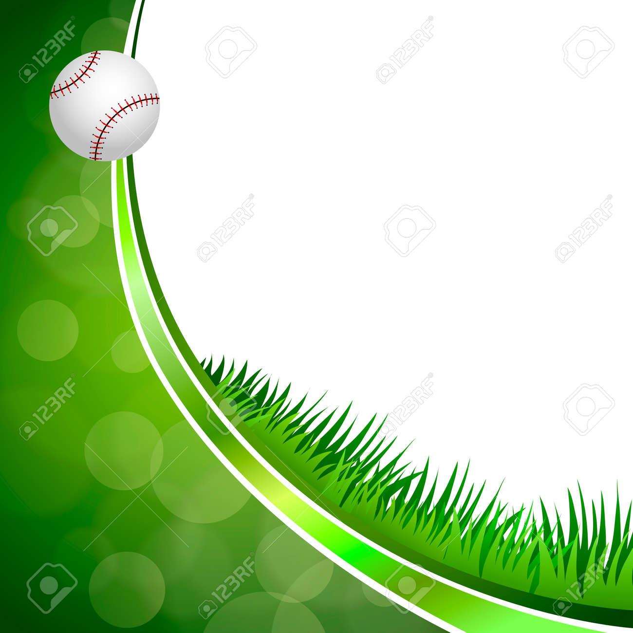c954efd74ec2 Background abstract green baseball ball circle ribbon frame illustration  vector Stock Vector - 47827889