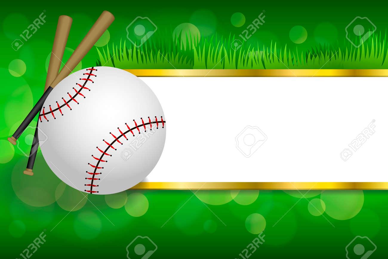 Hintergrund Abstrakten Grünen Sport Weißen Baseball-Ball Club Gold ...