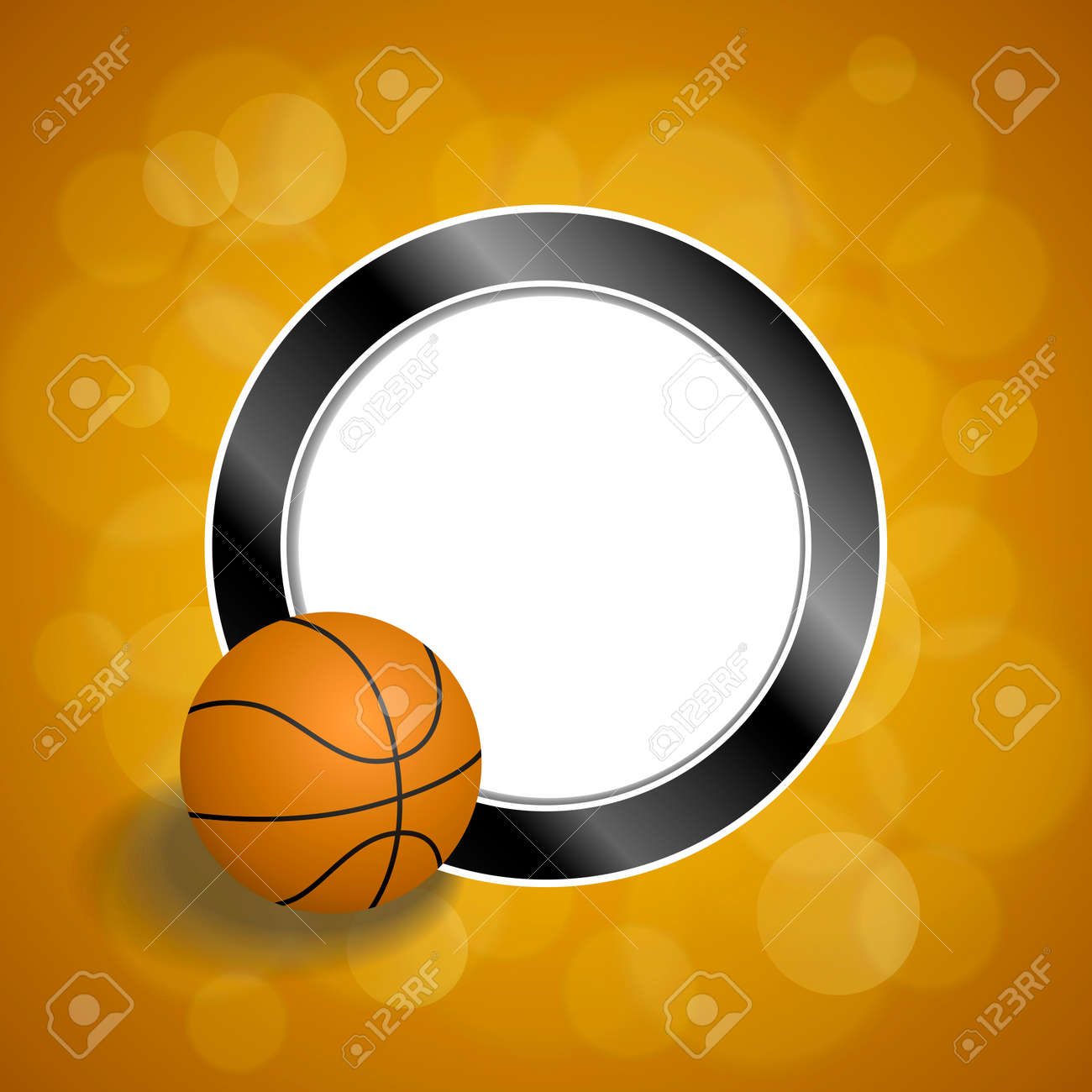 Background Abstract Orange Black Basketball Ball Circle Frame ...