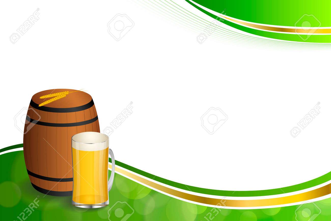 Fondo Abstracto Bebida De Barril De Cerveza De Cristal Verde Trigo ...