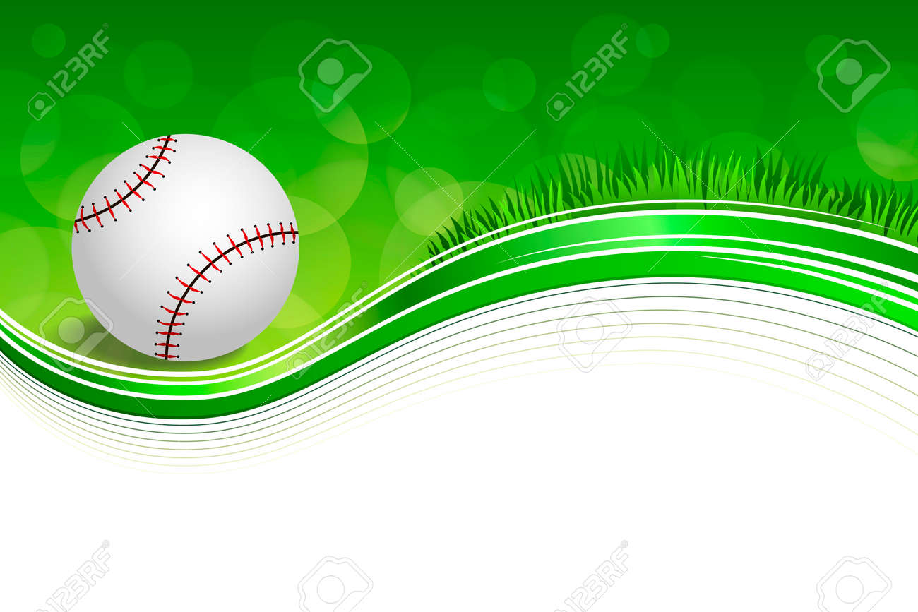 5ebd17c08760 Background abstract green grass baseball ball frame illustration Stock  Vector - 49049511