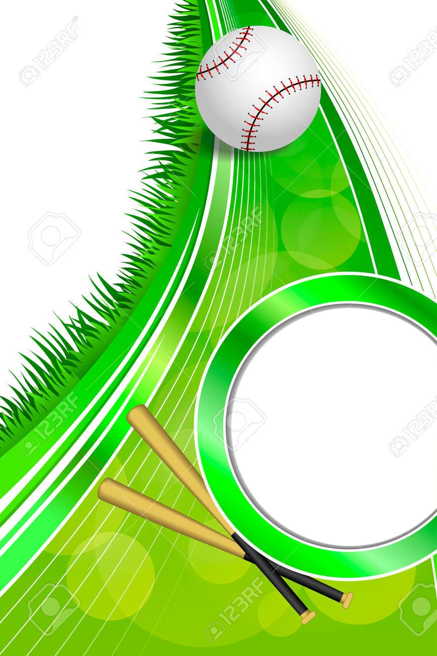 Hintergrund Abstrakt Grün Sport Weiß Baseball Weiße Kugel Rahmen ...
