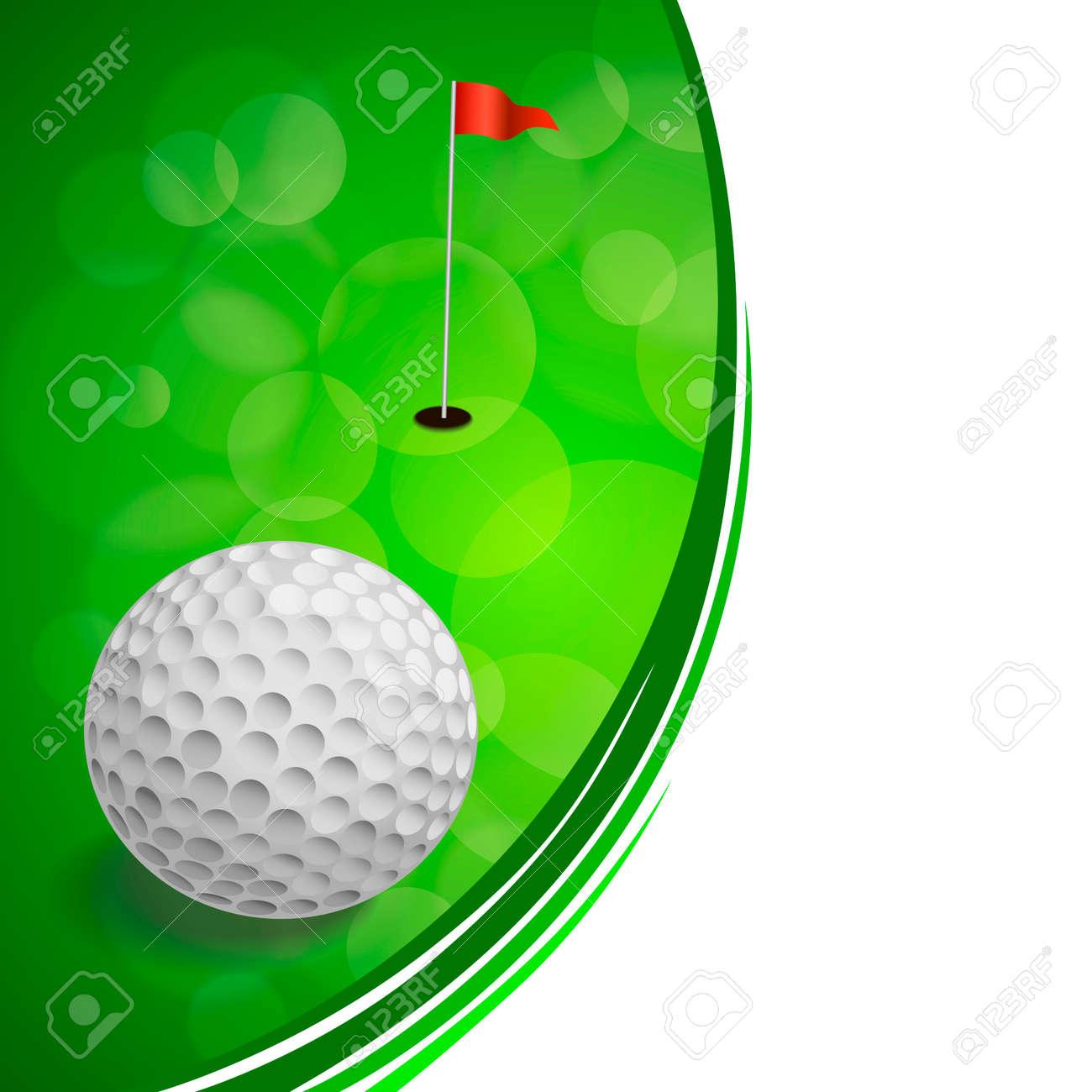Antecedentes Deporte Del Golf Abstracta Bandera Roja Del Verde Del ...