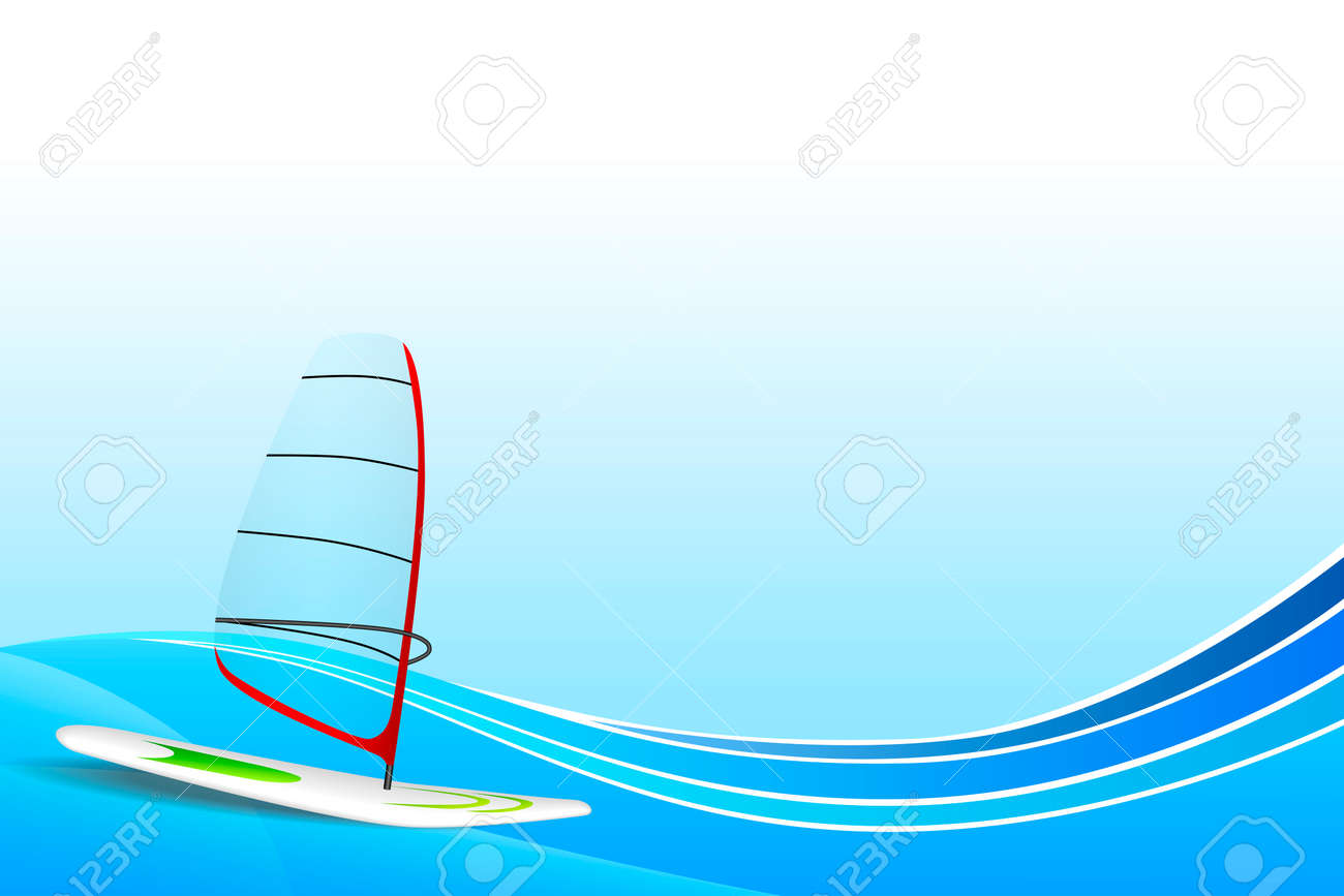 63d186294da Abstract background sea holidays design red green white windsurfing blue  frame illustration vector Stock Vector -