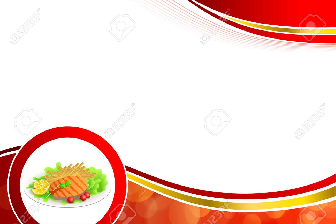 Zusammenfassung Hintergrund Essen Gegrilltem Lachs Fisch Tomaten