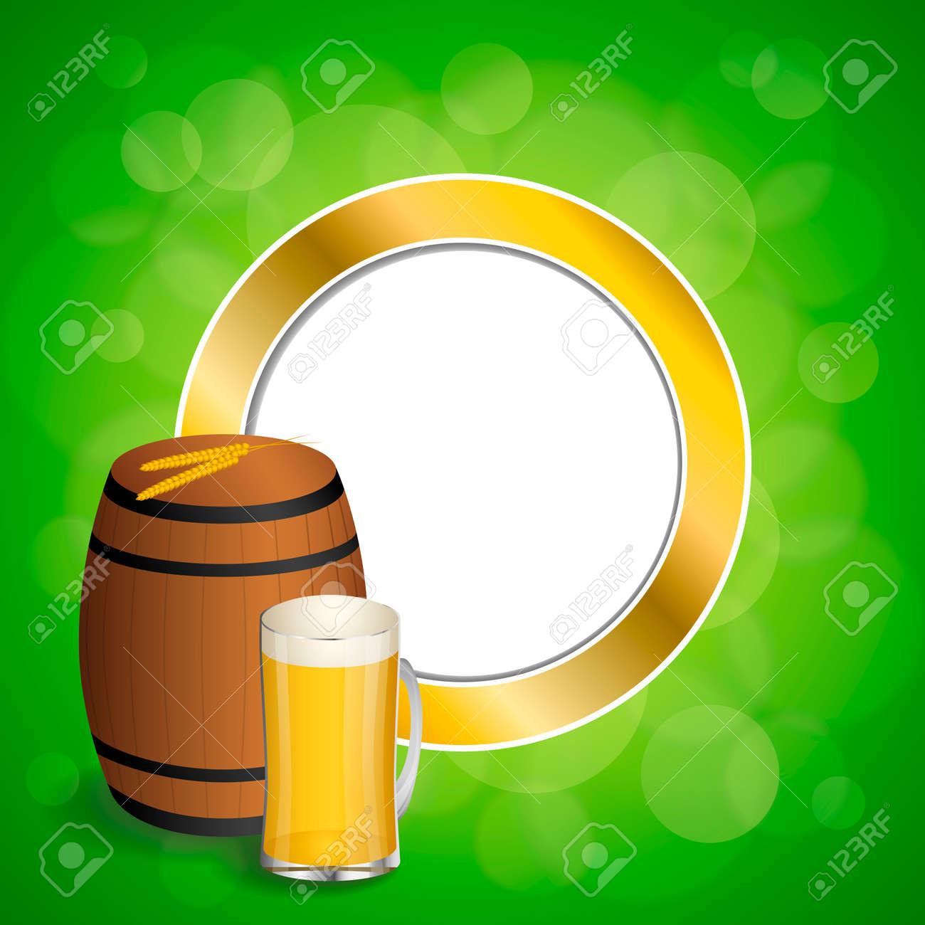 Resumen De Fondo Verde Bebida De Barril De Cerveza De Cristal Trigo ...
