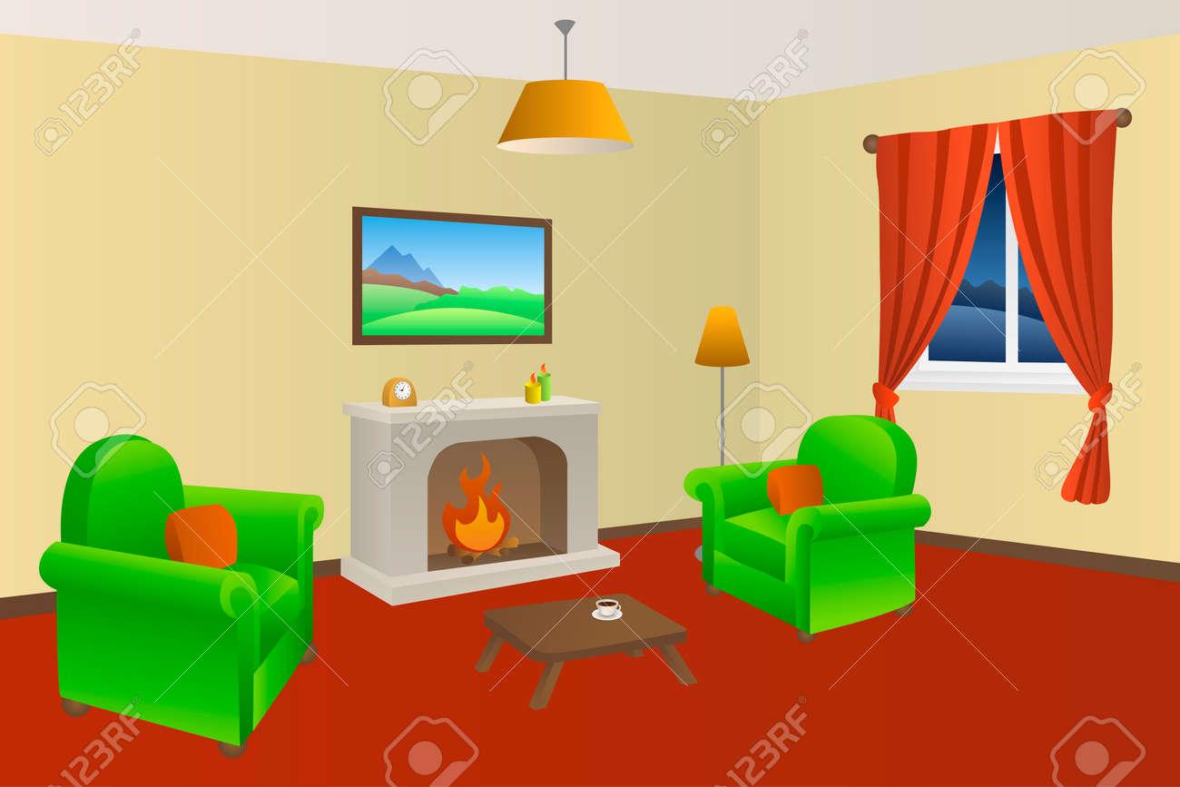 Kamin Wohnzimmer Beige Sessel Grün Rot Lampen Fenster Videos ...