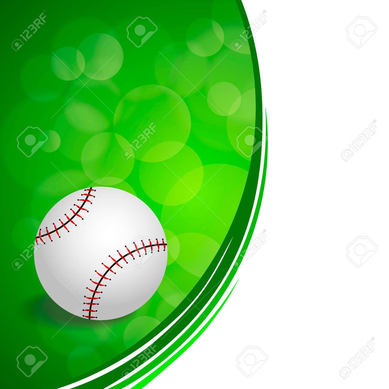 Hintergrund Abstrakte Grüne Baseball-Ball-Kreis Farbband Rahmen ...