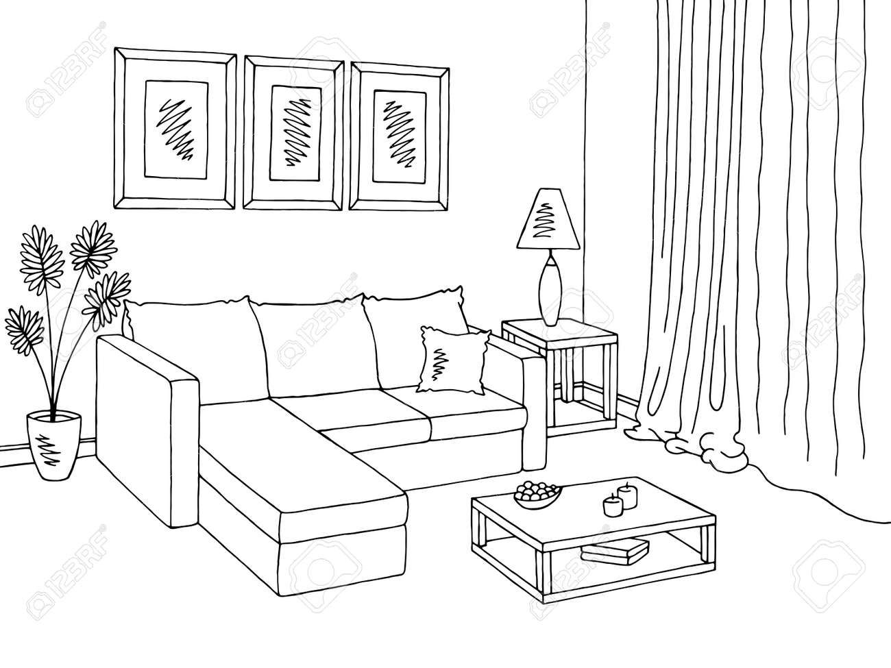 Dining Room Decoration: Dining Room Clipart Black And White