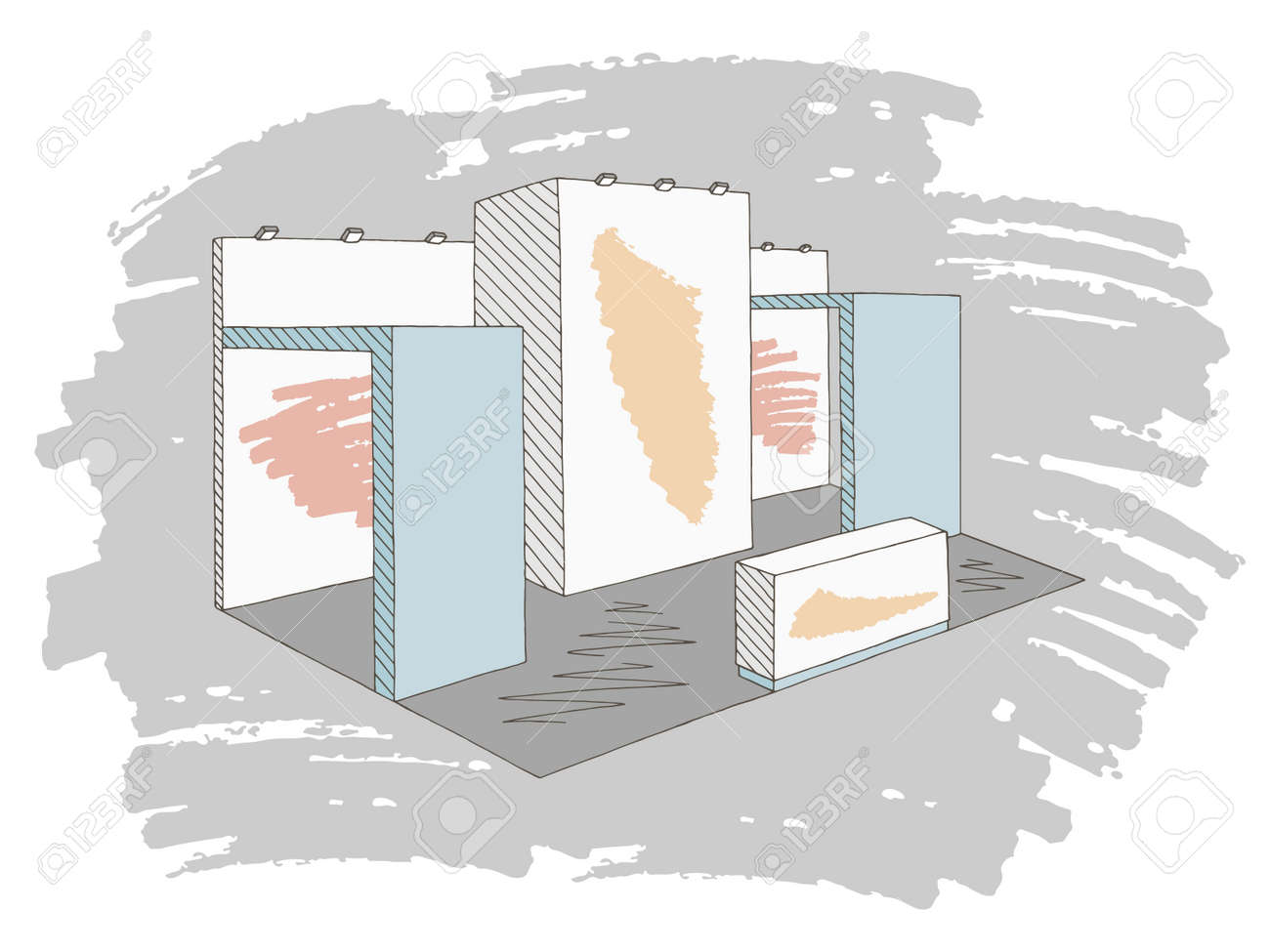 Exhibition Stand Sketch : Pin by janew law on 展臺 exhibition stand design booth design
