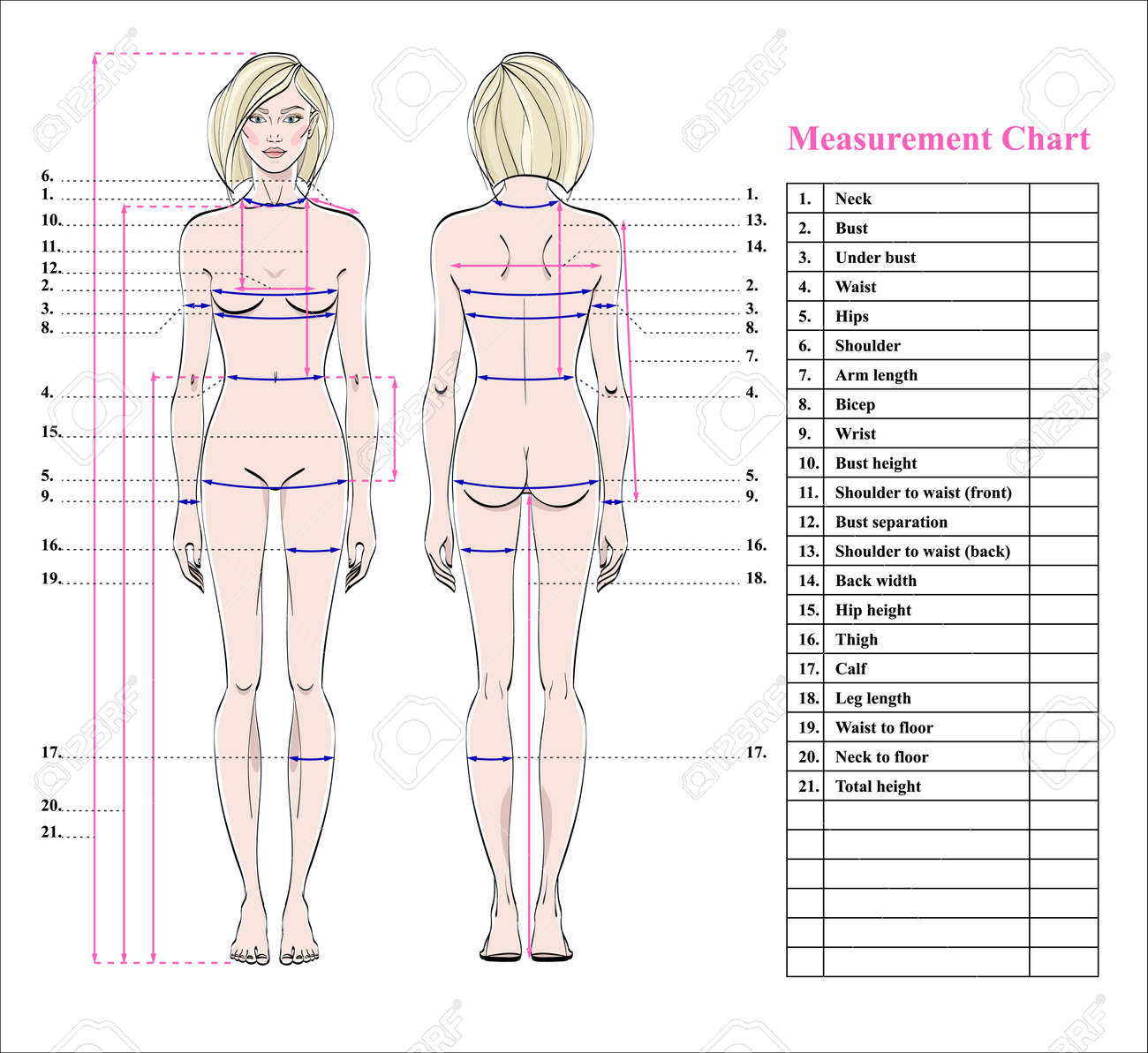 fitness measurement chart - Parfu kaptanband co