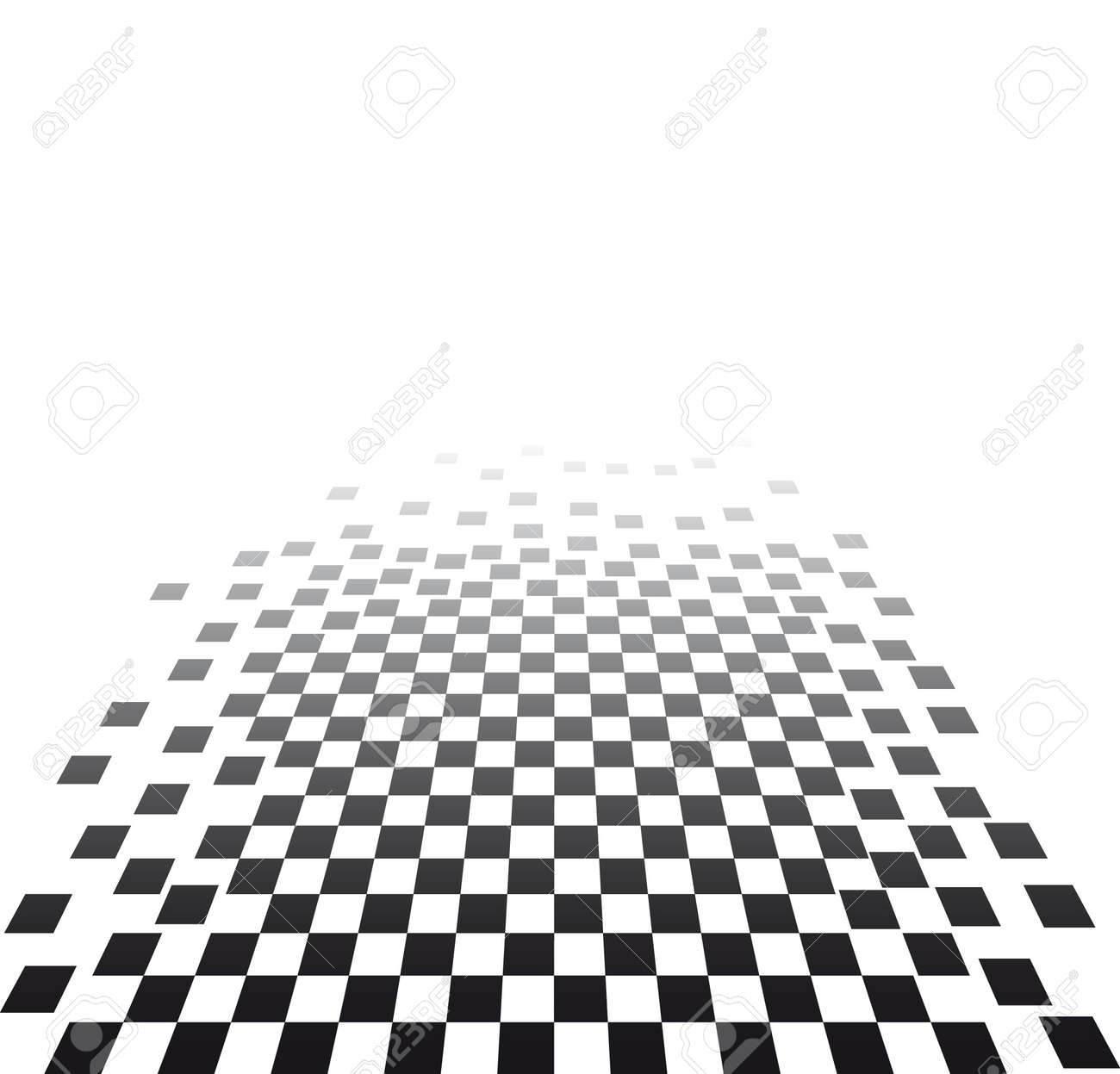 visual effect with chess board Stock Vector - 6139179