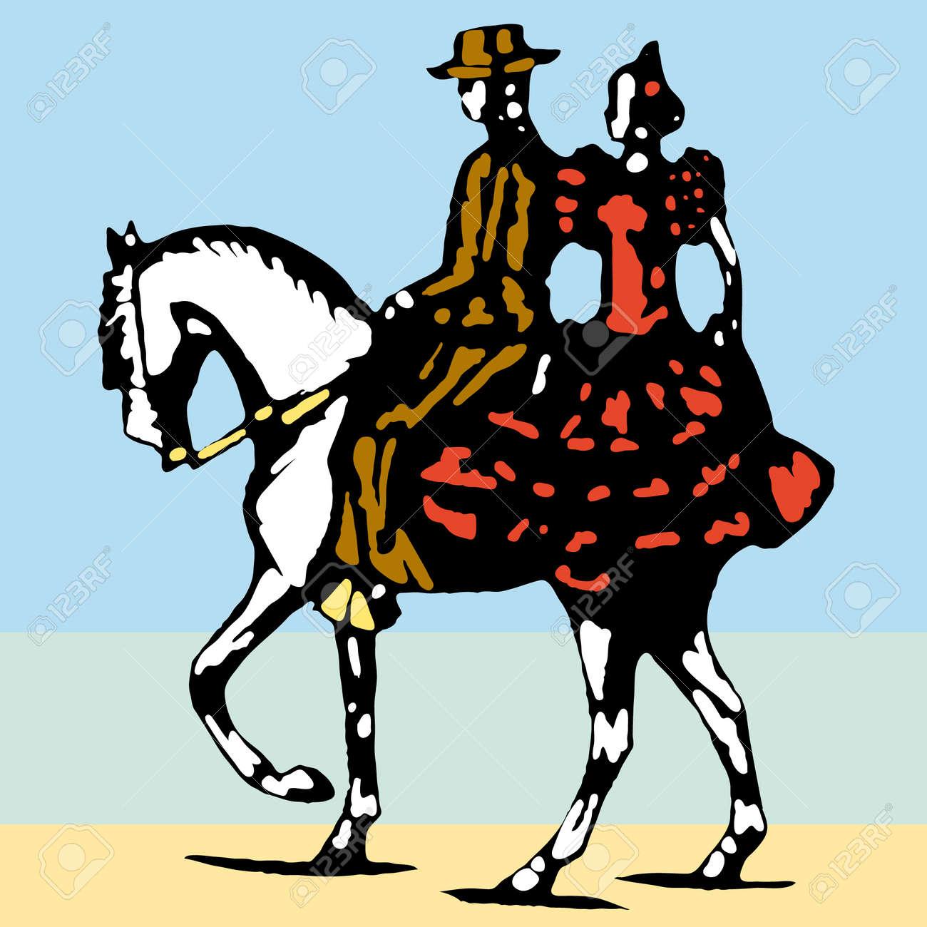 typical spanish flamenco vector illustration Stock Vector - 6236213