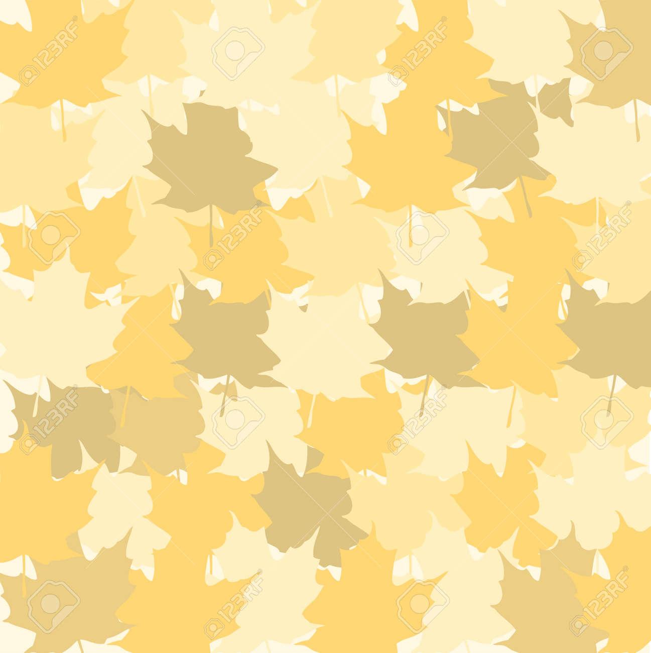 色とりどりの乾燥した秋の葉の背景。秋の背景ベクトル イラスト