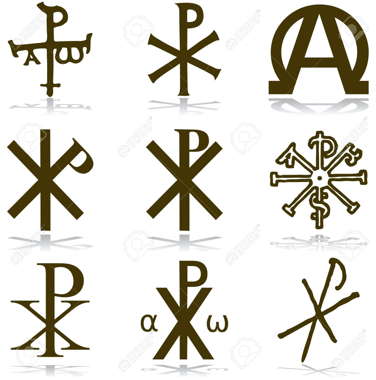 A Guide To Catholic Symbols Ihs Carving In The Roman Catacombs Set