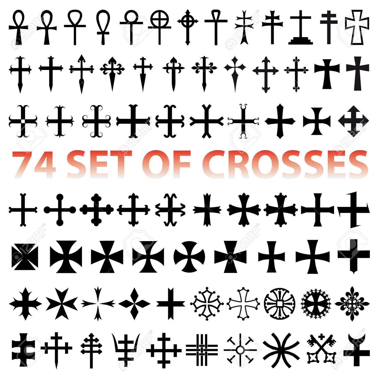 Croix Religieuses définissez la croix. différents symboles religieuses clip art libres