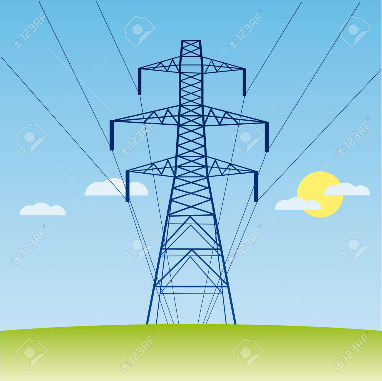 Clipart Electricity Pylon Electricity Pylon Silhouette