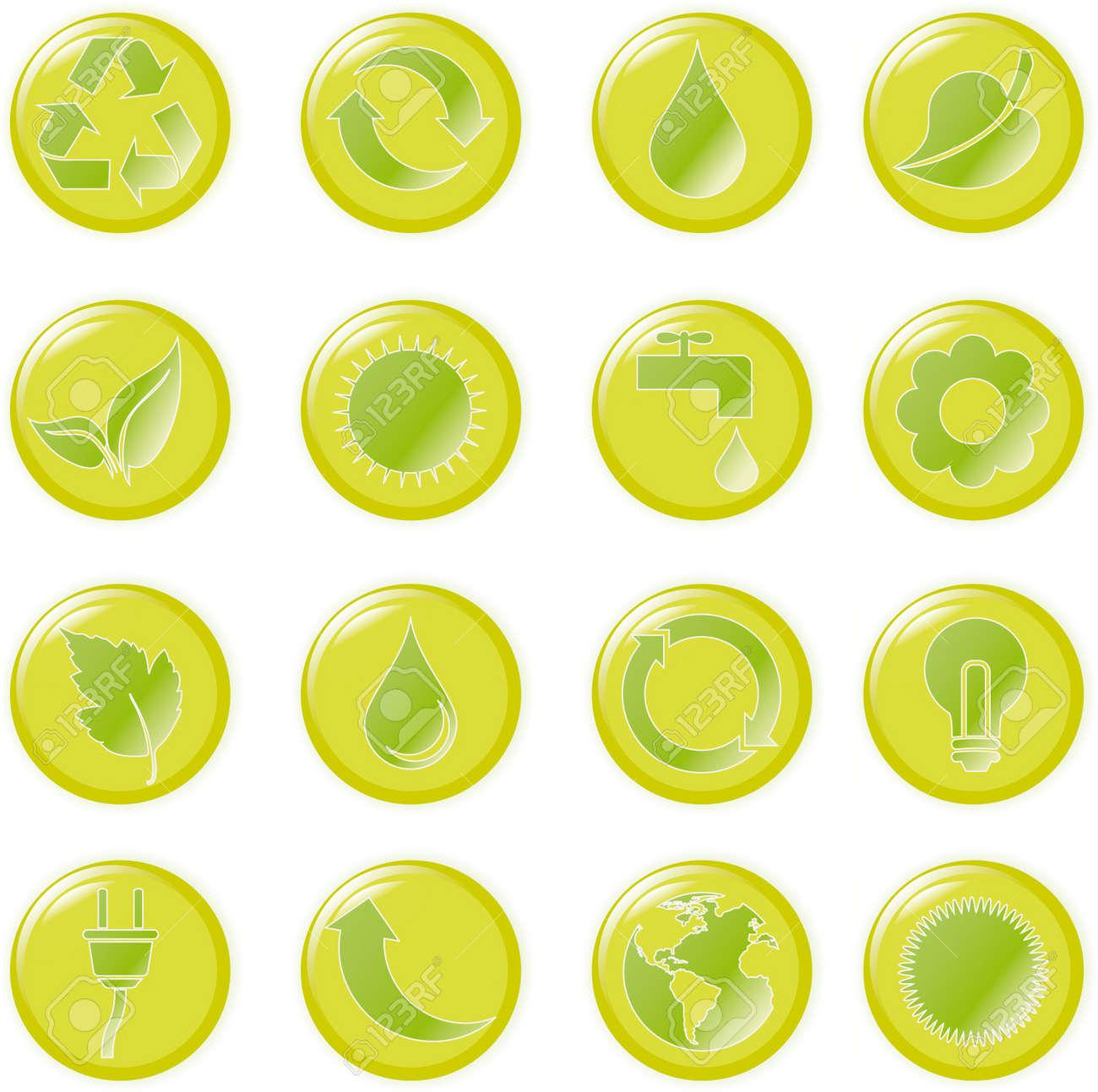 illustration green environmental bubbles on white Stock Vector - 6869379