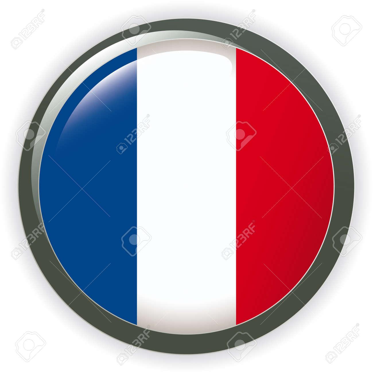 Orb FRANCE Flag button illustration 3D Stock Vector - 6977911