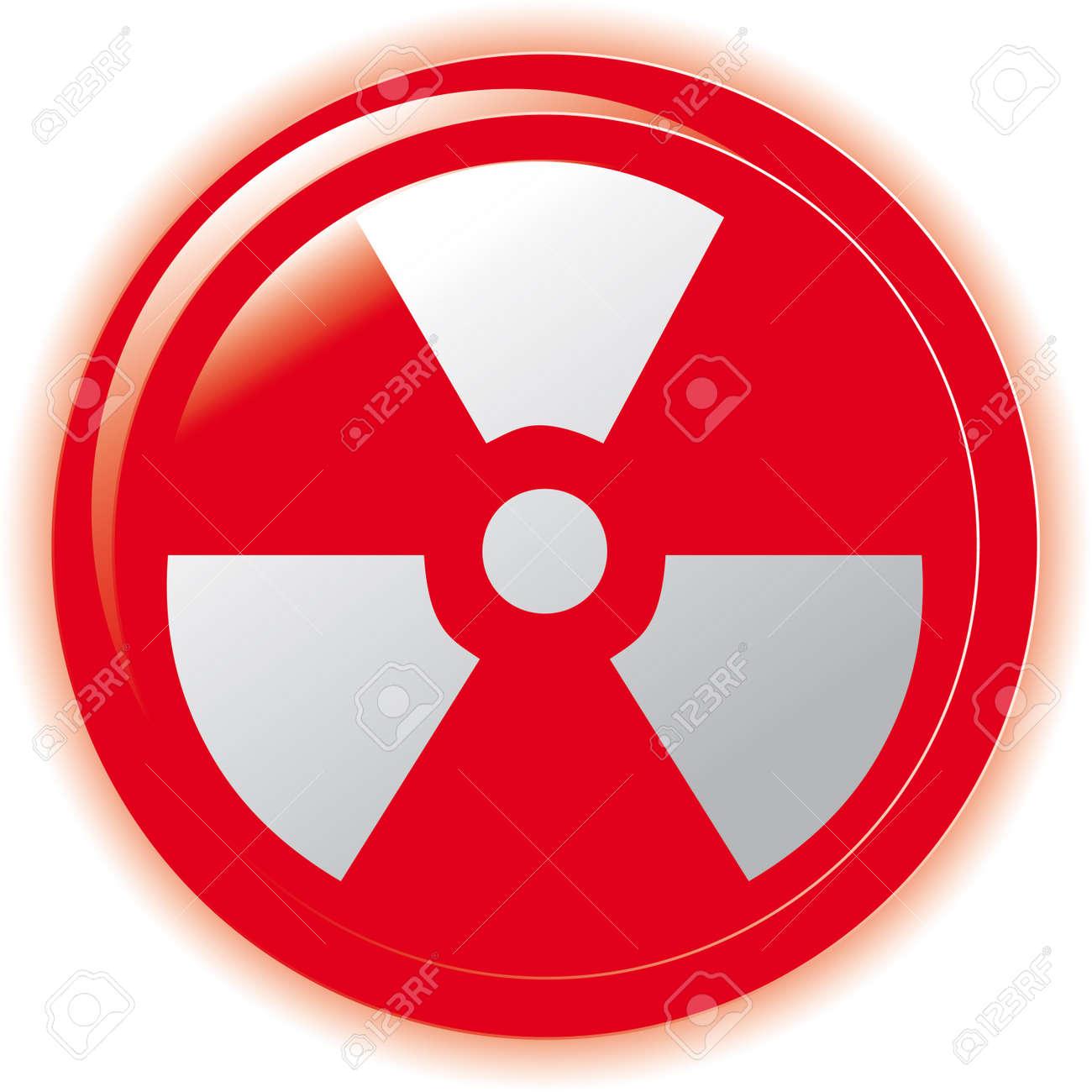 radioactive sign symbol icon Stock Vector - 7068038